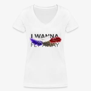 FLY AWAY - Ekologiczna koszulka damska z dekoltem w serek Stanley & Stella