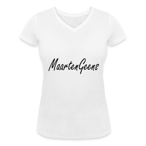 MaartenGeens Zwart - Vrouwen bio T-shirt met V-hals van Stanley & Stella