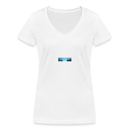 SpillCraft Logo - Økologisk T-skjorte med V-hals for kvinner fra Stanley & Stella