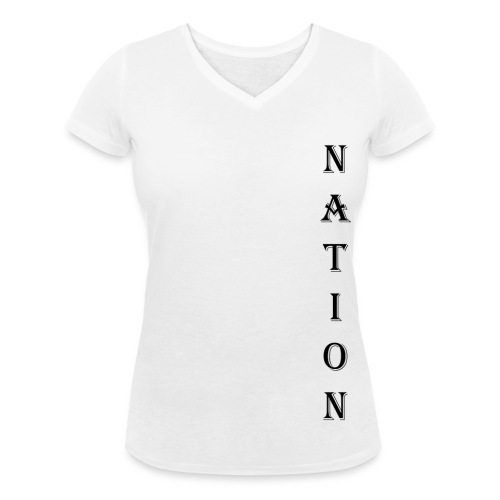 Nation - Vrouwen bio T-shirt met V-hals van Stanley & Stella