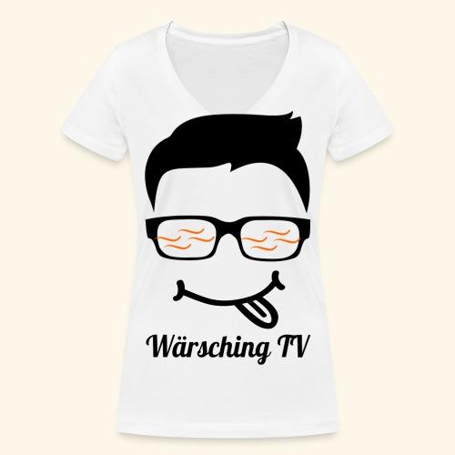Logo WaerschingTV - Frauen Bio-T-Shirt mit V-Ausschnitt von Stanley & Stella