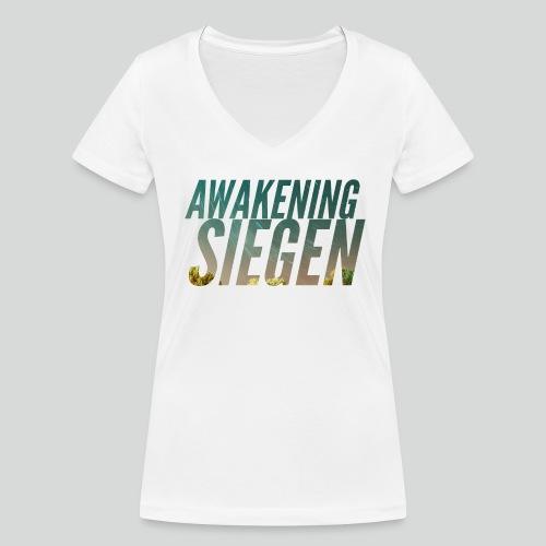 Awakening Siegen Logo - Frauen Bio-T-Shirt mit V-Ausschnitt von Stanley & Stella