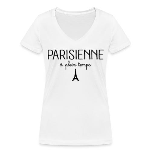Parisienne à plein temps - T-shirt bio col V Stanley & Stella Femme
