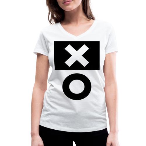XO White - Frauen Bio-T-Shirt mit V-Ausschnitt von Stanley & Stella