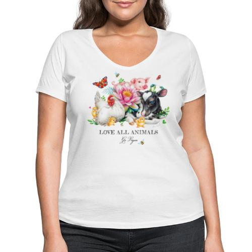 Go vegan - Women's Organic V-Neck T-Shirt by Stanley & Stella