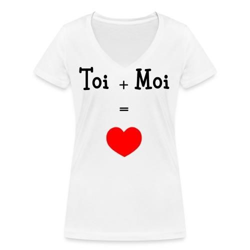 toi moi - T-shirt bio col V Stanley & Stella Femme
