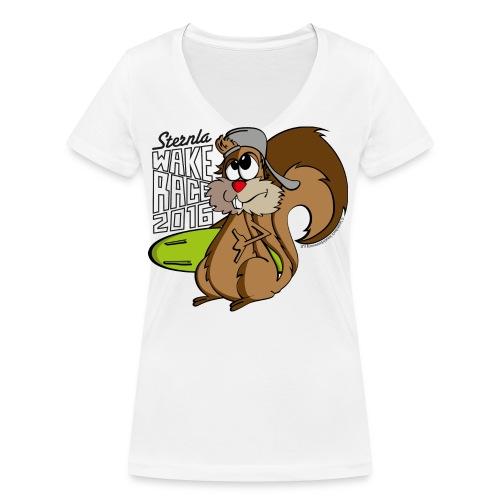 Eichhörnchen_Pfade - Frauen Bio-T-Shirt mit V-Ausschnitt von Stanley & Stella