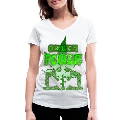 Green Power - T-shirt bio col V Stanley & Stella Femme