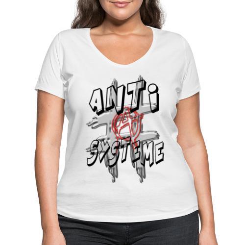 H-Tag Anti Système - T-shirt bio col V Stanley & Stella Femme