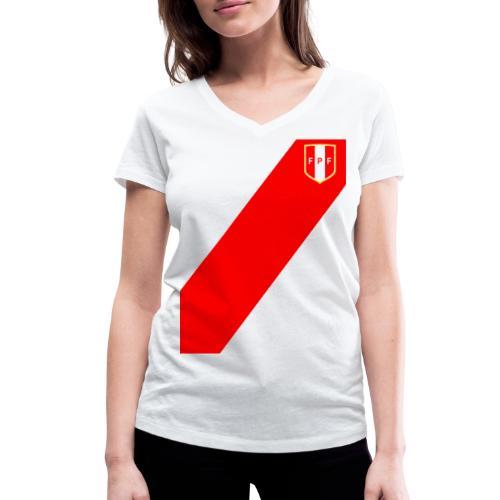 Seleccion peruana de futbol - Women's Organic V-Neck T-Shirt by Stanley & Stella