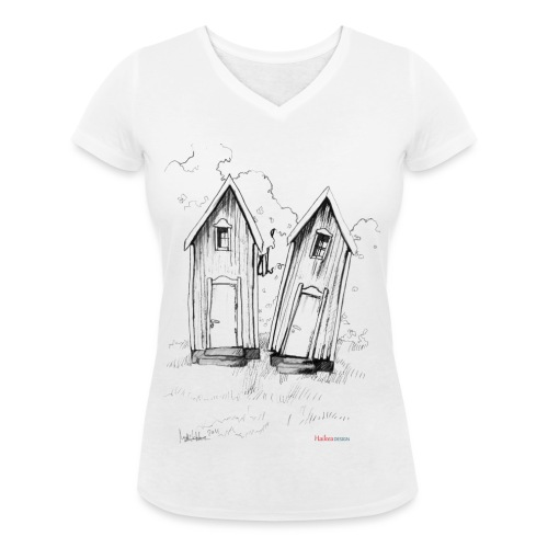 kaksoset logo - Stanley & Stellan naisten v-aukkoinen luomu-T-paita