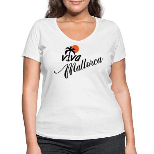 Viva Mallorca - Frauen Bio-T-Shirt mit V-Ausschnitt von Stanley & Stella