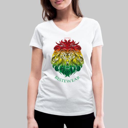 #Bestewear - Rastafari Lion - Frauen Bio-T-Shirt mit V-Ausschnitt von Stanley & Stella