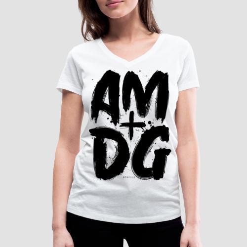 Ad Maiorem Dei Gloriam - T-shirt ecologica da donna con scollo a V di Stanley & Stella