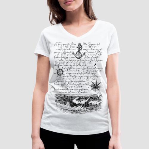 Preghiera del marinaio - T-shirt ecologica da donna con scollo a V di Stanley & Stella