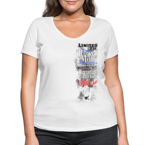Limited Edition Riding Mom Pferd Reiten - Frauen Bio-T-Shirt mit V-Ausschnitt von Stanley & Stella