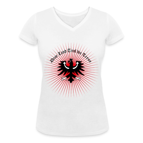 Dem Land Tirol die Treue - Frauen Bio-T-Shirt mit V-Ausschnitt von Stanley & Stella
