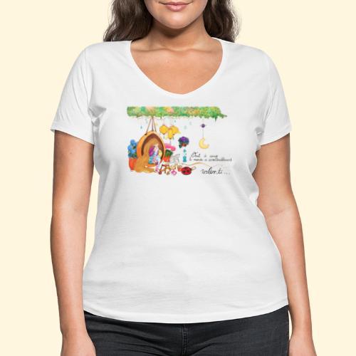 Tout à coup, le temps a considérablement ralenti - T-shirt bio col V Stanley & Stella Femme