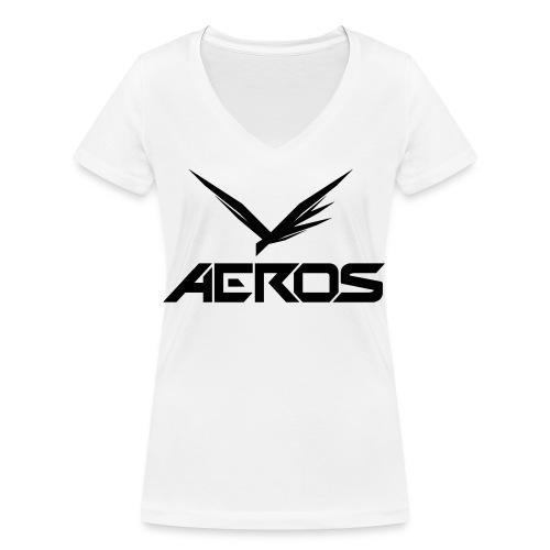 Aeros LOGO 2016 final - Vrouwen bio T-shirt met V-hals van Stanley & Stella