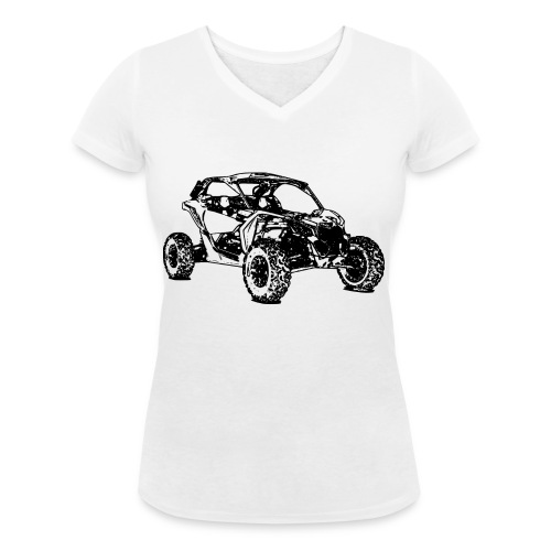 Side by Side car Offroad - Frauen Bio-T-Shirt mit V-Ausschnitt von Stanley & Stella