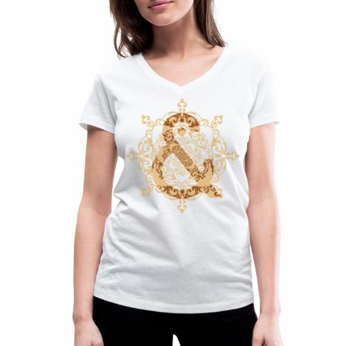 Escudo natural & ... - Camiseta ecológica mujer con cuello de pico de Stanley & Stella