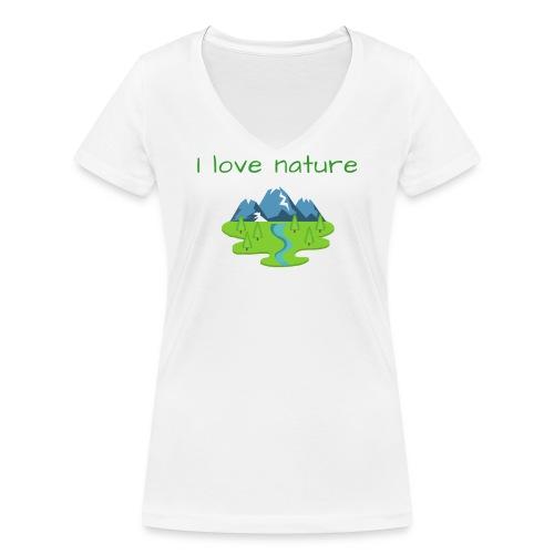 Ich liebe die Natur - Frauen Bio-T-Shirt mit V-Ausschnitt von Stanley & Stella