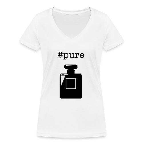 PURE - Frauen Bio-T-Shirt mit V-Ausschnitt von Stanley & Stella