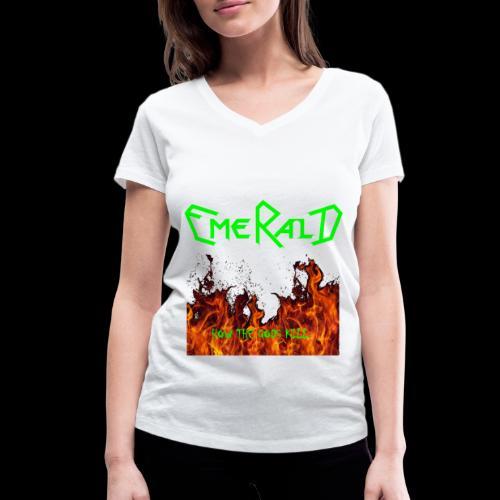 htgkbutton - Frauen Bio-T-Shirt mit V-Ausschnitt von Stanley & Stella