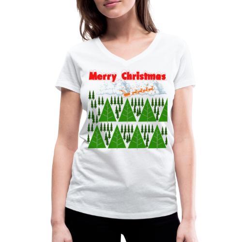 christmas time. Tempo di Natale - T-shirt ecologica da donna con scollo a V di Stanley & Stella
