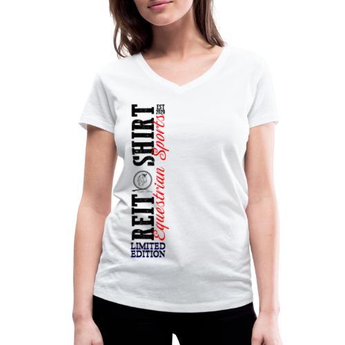 ReitShirt Limited Edition Pferde Reiten - Frauen Bio-T-Shirt mit V-Ausschnitt von Stanley & Stella