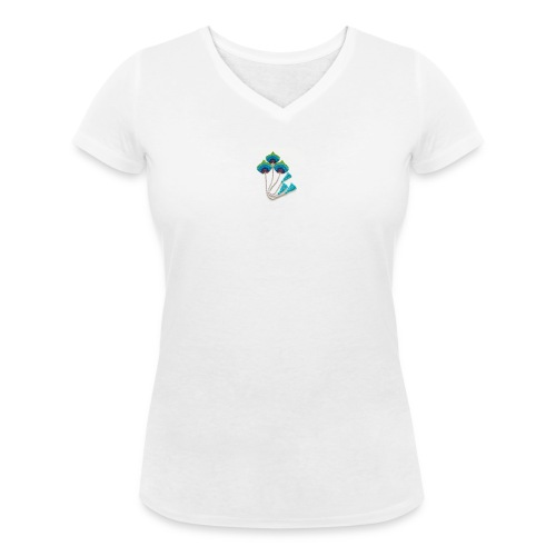 Peacock feather - Women's Organic V-Neck T-Shirt by Stanley & Stella