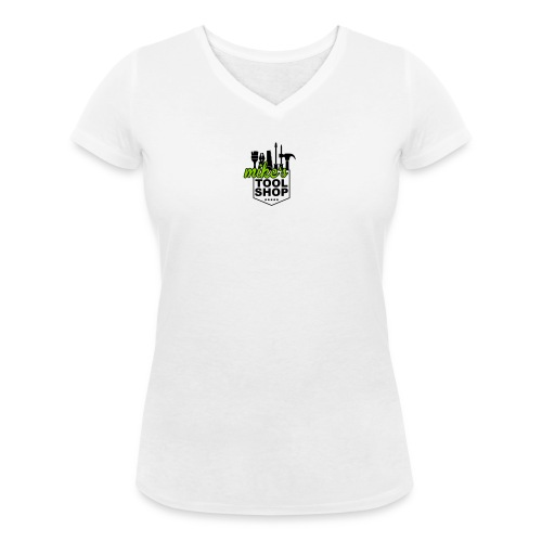 Mikes Wappen - Frauen Bio-T-Shirt mit V-Ausschnitt von Stanley & Stella