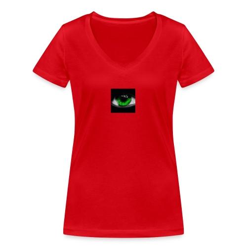 Green eye - Women's Organic V-Neck T-Shirt by Stanley & Stella