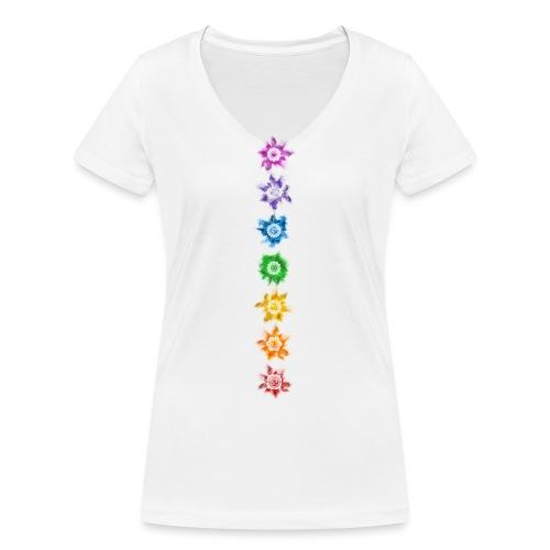 Chakra - Shirt - Frauen Bio-T-Shirt mit V-Ausschnitt von Stanley & Stella