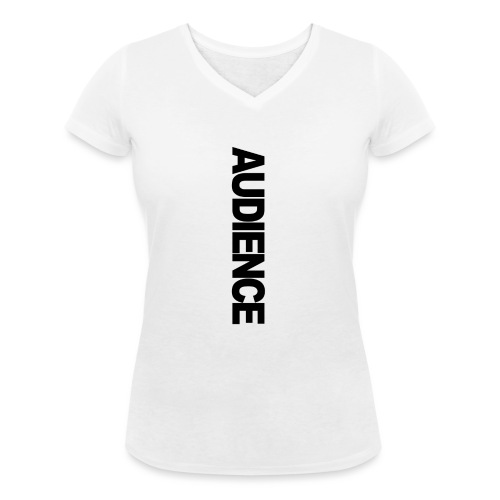 audienceiphonevertical - Women's Organic V-Neck T-Shirt by Stanley & Stella