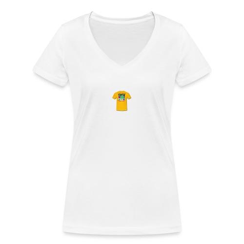 Castle design - Økologisk Stanley & Stella T-shirt med V-udskæring til damer