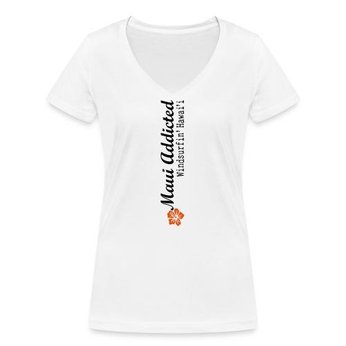 MAddLogoVert ai - Women's Organic V-Neck T-Shirt by Stanley & Stella