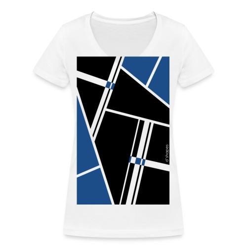d'shapes black blue - T-shirt ecologica da donna con scollo a V di Stanley & Stella