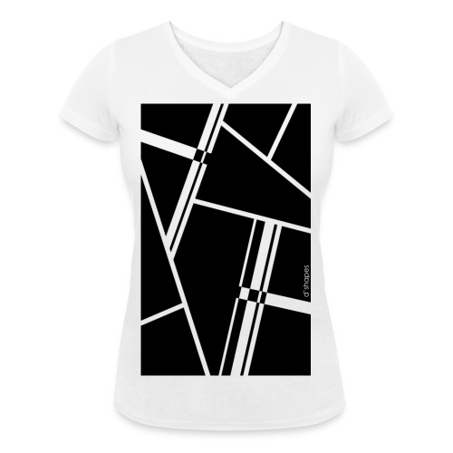 d'shapes black - T-shirt ecologica da donna con scollo a V di Stanley & Stella