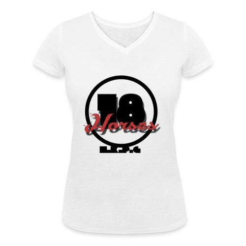 18 Horses - NKPG (Black) - Ekologisk T-shirt med V-ringning dam från Stanley & Stella