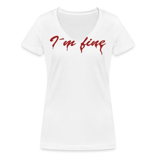 I´m fine - Frauen Bio-T-Shirt mit V-Ausschnitt von Stanley & Stella