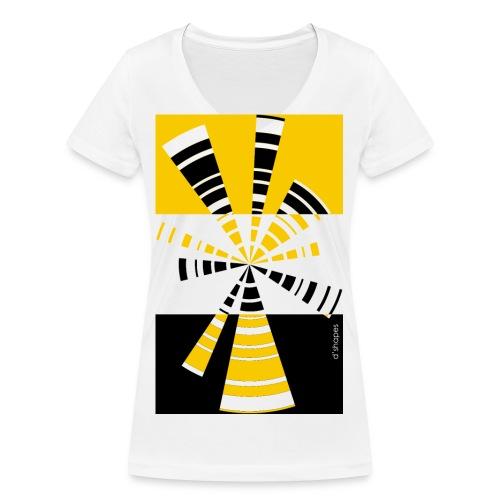 d shapes radio giallo - T-shirt ecologica da donna con scollo a V di Stanley & Stella