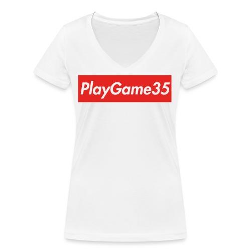 PlayGame35 - T-shirt ecologica da donna con scollo a V di Stanley & Stella