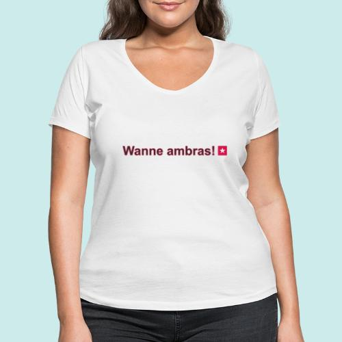 Wanne ambras mr def b hori def - Vrouwen bio T-shirt met V-hals van Stanley & Stella