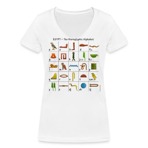 Ägyptisches Alphabet - Frauen Bio-T-Shirt mit V-Ausschnitt von Stanley & Stella