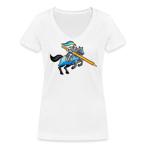 Riddaren av Politikfakta - Ekologisk T-shirt med V-ringning dam från Stanley & Stella