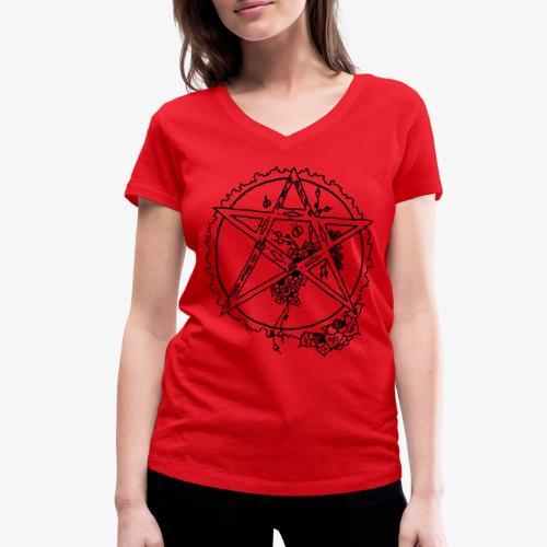 Flowergram - Women's Organic V-Neck T-Shirt by Stanley & Stella