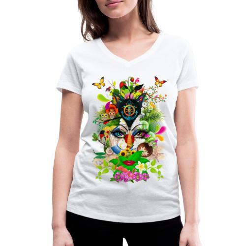 Parfum d'été by T-shirt chic et choc - T-shirt bio col V Stanley & Stella Femme