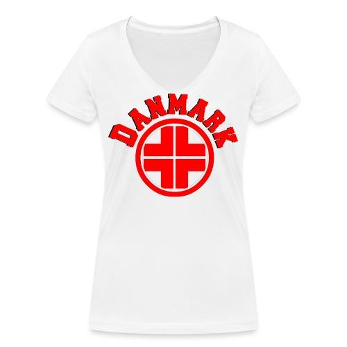 Denmark - Women's Organic V-Neck T-Shirt by Stanley & Stella