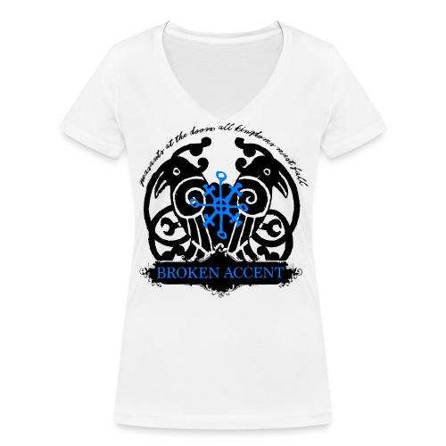 LogoBlueNew png - Økologisk T-skjorte med V-hals for kvinner fra Stanley & Stella